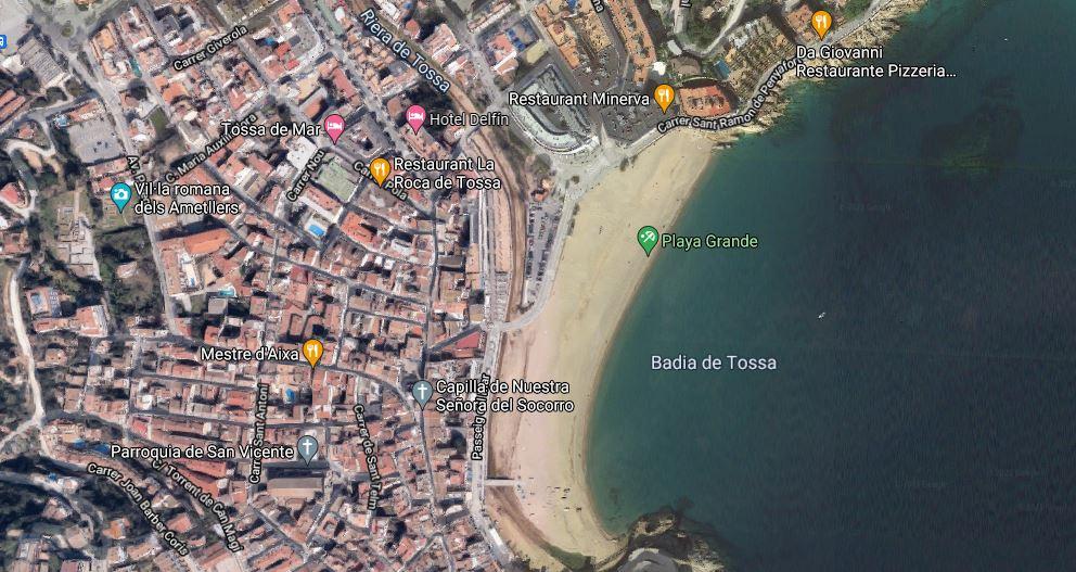 Tossa de Mar. Costa Brava. Imagen aérea