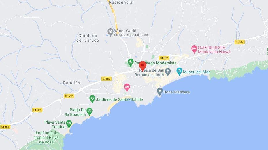 Noticias Lloret de Mar. Mapa aéreo de la ciudad